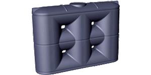 3000 Litre Poly Rainwater Storage Tank Slimline