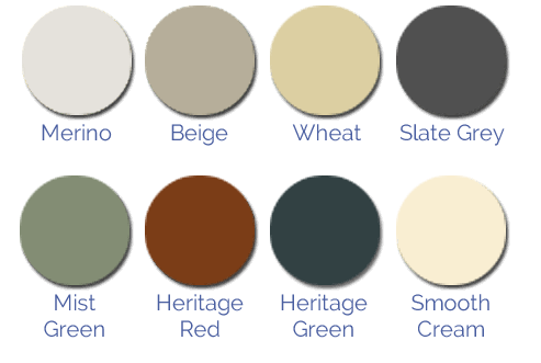 slimline water tank colour chart