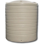 7000 Litre Poly Round Rainwater Tank