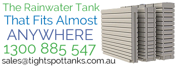 rainwater tank that fits almost anywhere