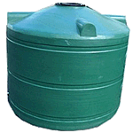 1100 litre squat round rainwater tank