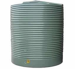 7000 Litre corrugated round rainwater storage tank