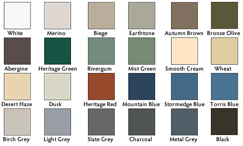 Enviro 2000 Litre Colour Chart For 4200 Litre Round Poly Water Tank