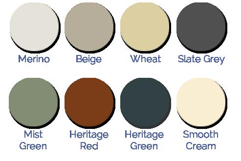 slimline water tank colour chart